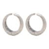 Ostrich Hoops large silver